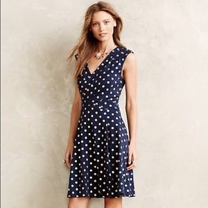 Anthropologie Maeve Ophira Polka Dotted Dress